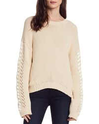 Michael Stars Lace-up Sleeve Sweater - Multicolor