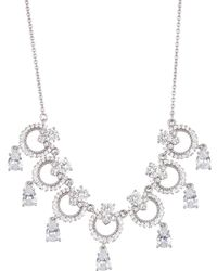 Marchesa - Cz Drop Ring Frontal Necklace - Lyst
