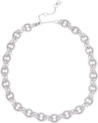 Marchesa - Cz Ring Link Collar Necklace - Lyst