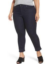 NYDJ - Sheri Bling Hem Stretch Ankle Skinny Jeans (plus Size) - Lyst