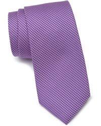 Calibrate Gerrit Textured Silk Tie - Purple