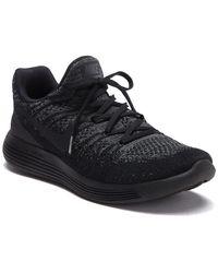 Nike Flyknit 2 Lunarepic Running Shoe (men) - Black