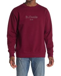 Barney Cools Logo Crew Neck Sweatshirt - Purple