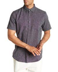 Joe Fresh - Linen Blend Standard Fit Short Sleeve Shirt - Lyst