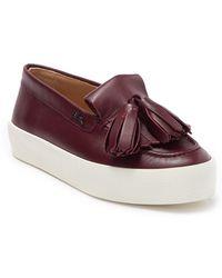 Longchamp Penelope Leather Platform Loafer - Multicolor