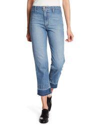 Joe's Jeans - The Jane Released Hem Straight Leg Cropped Jeans - Lyst