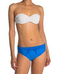 Reebok Drawstring Hipster Bikini Bottom - Blue