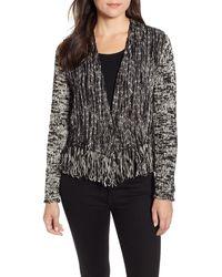NIC+ZOE Fringe Worthy Cardy (black Mix) Women's Sweater