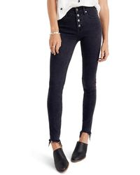 Madewell 9-inch Button Ankle Skinny Jeans - Blue