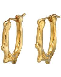 Uno De 50 - Wakame Scalloped Hoop Earrings - Lyst