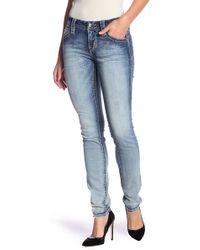 Rock Revival - Topstitched & Embellished Skinny Jeans - Lyst