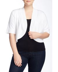 Cable & Gauge - Shrug Sweater (plus Size) - Lyst