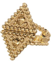 House of Harlow 1960 Central Highlands Pyramid Ring - Size 7 - Metallic
