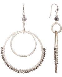 Chan Luu | Beaded Double Hoop Dangle Earrings | Lyst