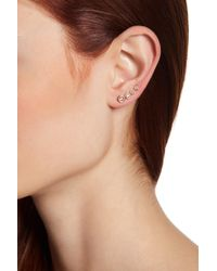 Judith Jack | Gold Plated Sterling Silver Crystal Climber Earrings | Lyst