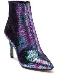 Betsey Johnson Alba Embossed Snakeskin Ankle Bootie - Multicolour