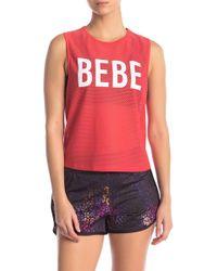 Bebe - Honeycomb Mesh Tank Top - Lyst