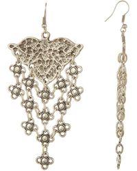 TMRW STUDIO - Engraved Dangle Earrings - Lyst