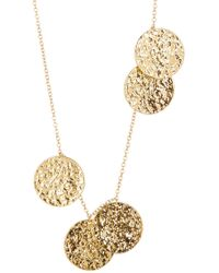 Gorjana - Faye Hammered Disc Wrap Necklace - Lyst