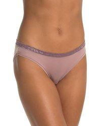 Le Mystere Safari Lace Trim Bikini Panties - Multicolor