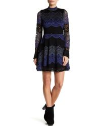 Romeo and Juliet Couture - Mock Neck Long Sleeve Lace Dress - Lyst