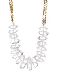 Nest | Crystal Quartz Spike Collar Necklace | Lyst