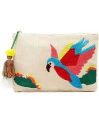 Twig & Arrow - Embroidered Parrot Woven Pouch - Lyst