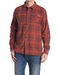 O'neill Sportswear Glacier Plaid Fleece Shirt Jacket - Red