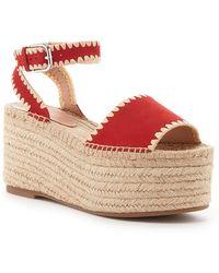 Pour La Victoire Ria Espadrille Platform Sandal - Red