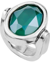 Uno De 50 Silver Plated Orion Ring - Green