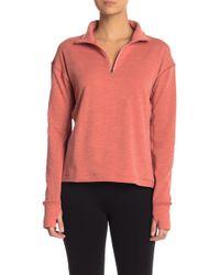 Outdoor Voices Ov Fleece Half Zip Pullover - Pink