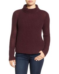 Halogen - Stitch Detail Cashmere Mock Neck Jumper - Lyst