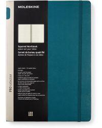 Moleskine - Tide Green Squared Workbook - Lyst