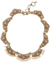 Marchesa - Crystal & Imitation Pearl Statement Collar Necklace - Lyst