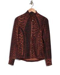 90 Degrees Lux Printed Full-zip Jacket - Brown