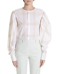 Calvin Klein Removable Sleeve Blouse - White