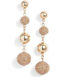 Rebecca Minkoff - Statement Pave Sphere Drop Earrings - Lyst