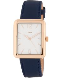 Fossil - Women's Atwater Leather Watch, 28mm X 34mm - Lyst