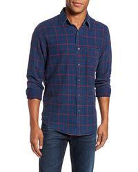 Faherty Brand Check Sport Shirt - Blue