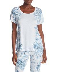 Kensie - Printed Pajama Tee - Lyst