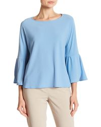 Vince Camuto - Solid Bell Sleeve Blouse - Lyst