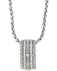 Effy Sterling Silver Crystal Pave Pendant Necklace - Metallic