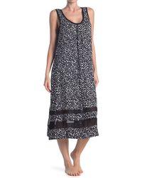 Donna Karan Long Nightgown - Black