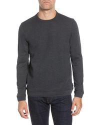 Ted Baker Tricks Slim Fit Quilted Jersey Sweatshirt - Gray