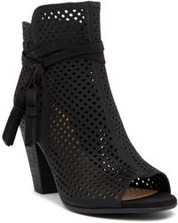 Vince Camuto - Kamey Perforated Open Toe Bootie - Lyst