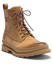 Sorel - Madson Waterproof Leather Wingtip Boot - Lyst