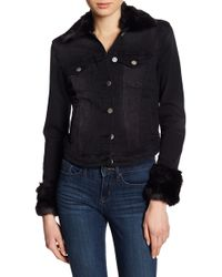 William Rast - Sussex Faux Fur Lined Denim Jacket - Lyst