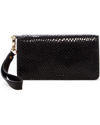 Tusk - Snake Embossed Leather Smartphone Wristlet Wallet - Lyst