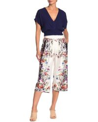 On The Road - Rover Satin Floral Cropped Pants - Lyst