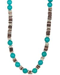 Link Up | Shell Discs Beaded Necklace | Lyst
